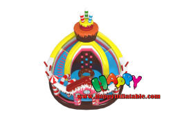 Candy House Inflatable Playground With Slide
