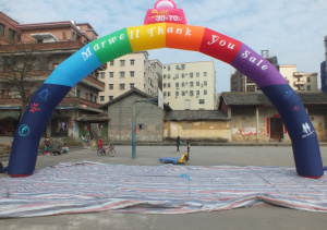 AR-103-Comme cial inflatable welcome colorful arch
