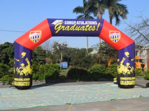 AR-107-Custom print  event promotion inflatable arch