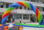 AR-079-colorful inflatable advertising arch
